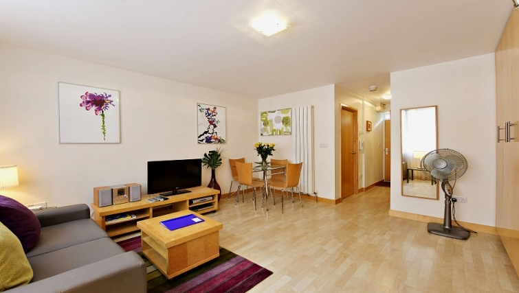 Modern living area in 6-8 St Christophers Place Apartments - Citybase Apartments