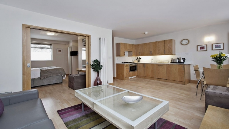 Cosy living area in 6-8 St Christophers Place Apartments - Citybase Apartments