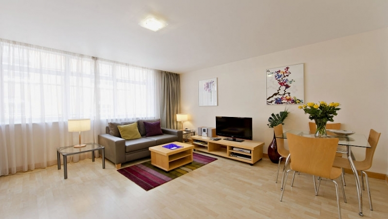 Living area in 6-8 St Christophers Place Apartments - Citybase Apartments