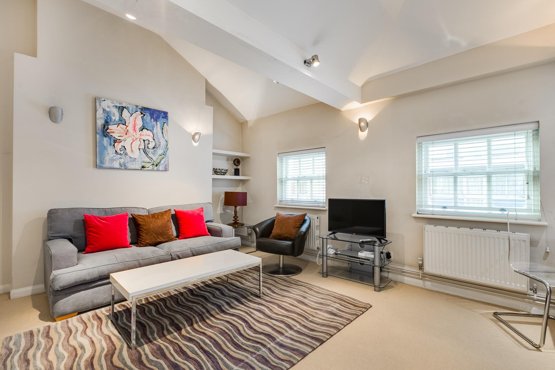 Sofa at 54 James Street Apartment - Citybase Apartments