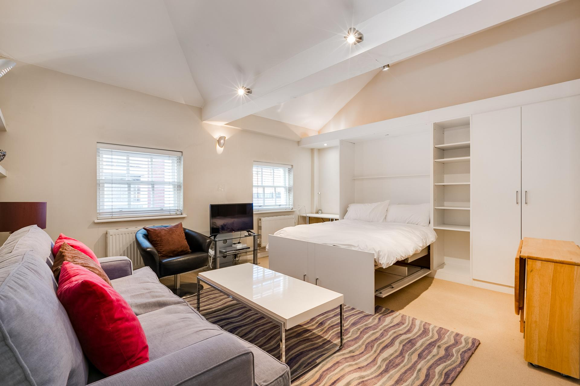 Pull down bed at 54 James Street Apartment - Citybase Apartments