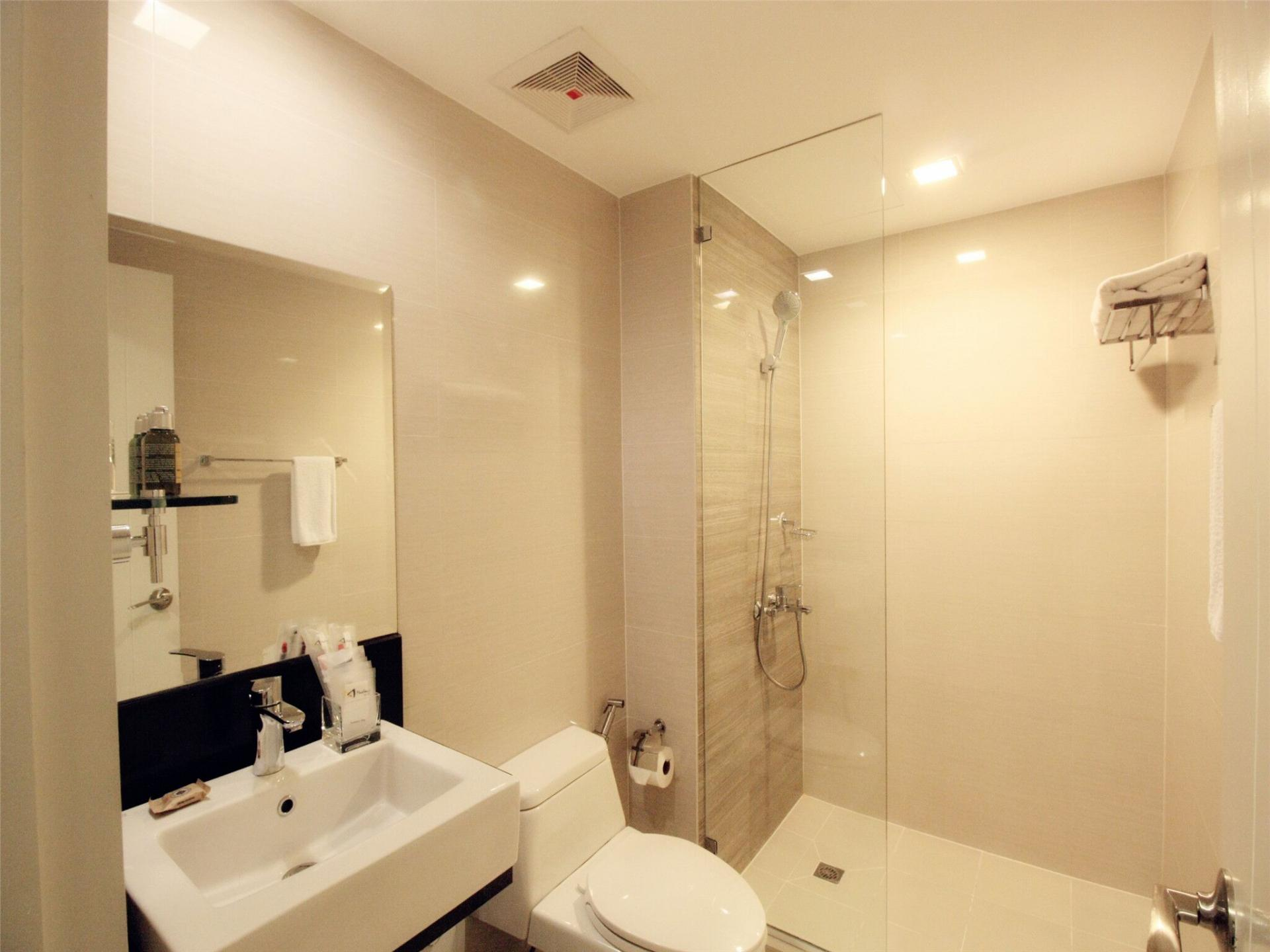 Bathroom at Alessandro Tower Apartments - Citybase Apartments