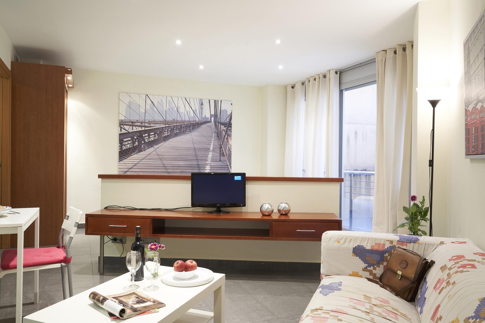 Living room at Universidad Apartments - Citybase Apartments