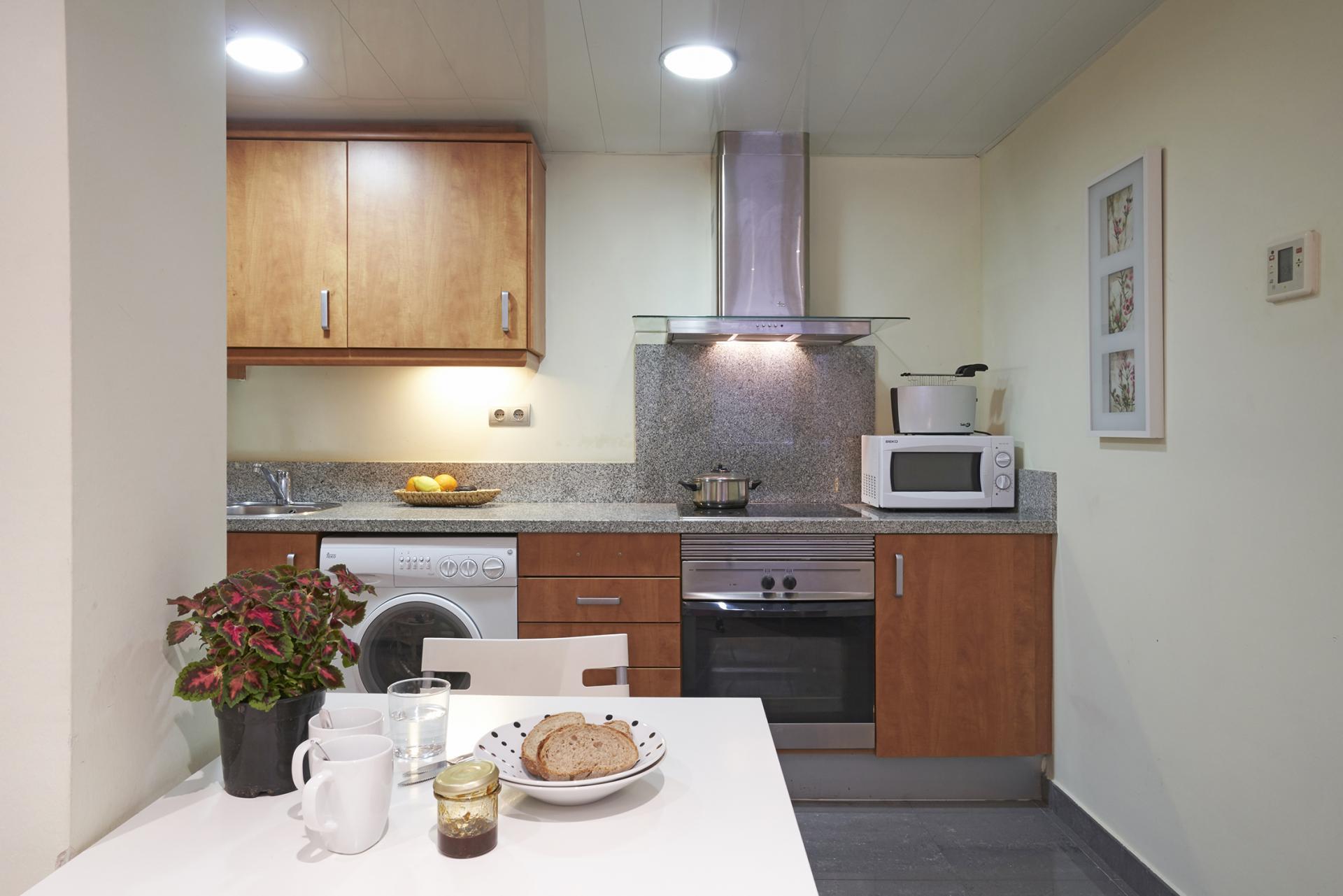 Kitchen at Universidad Apartments - Citybase Apartments