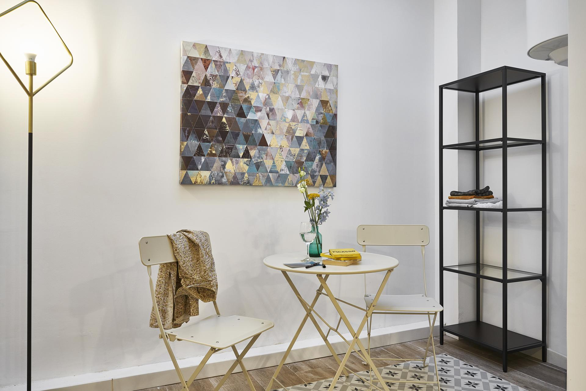 Seating area at Eixample Duplex Apartment - Citybase Apartments