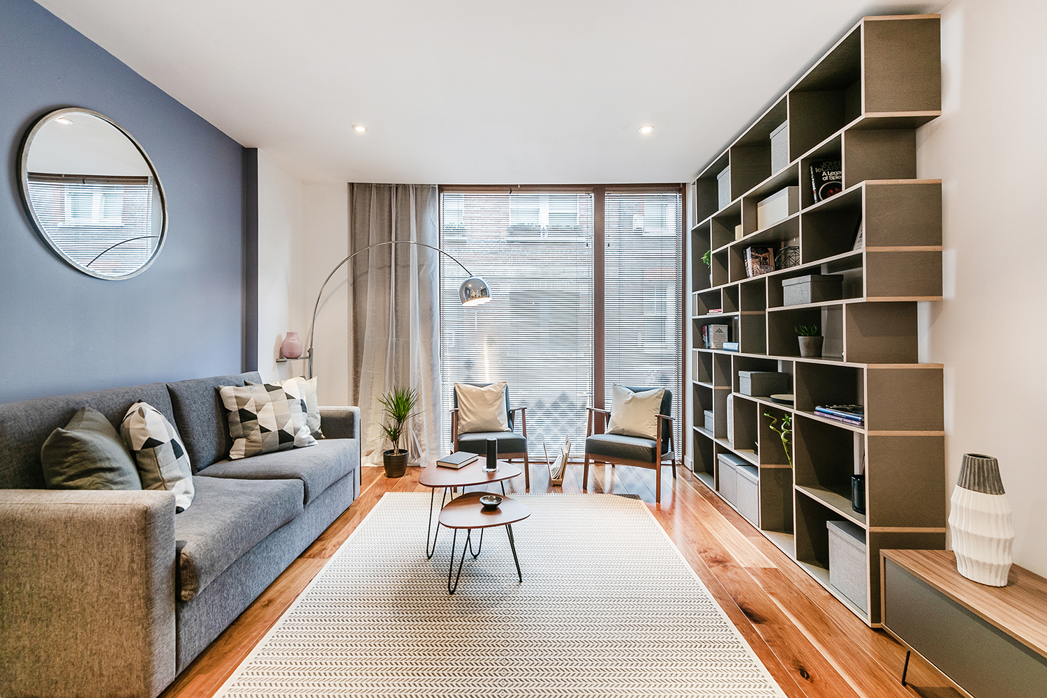 Living room at Peter Street Apartment - Citybase Apartments
