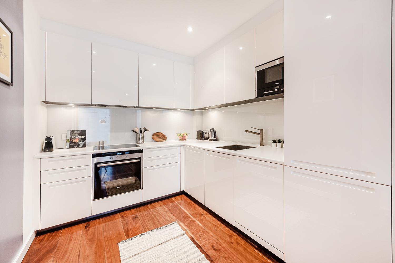 Kitchen at Peter Street Apartment - Citybase Apartments