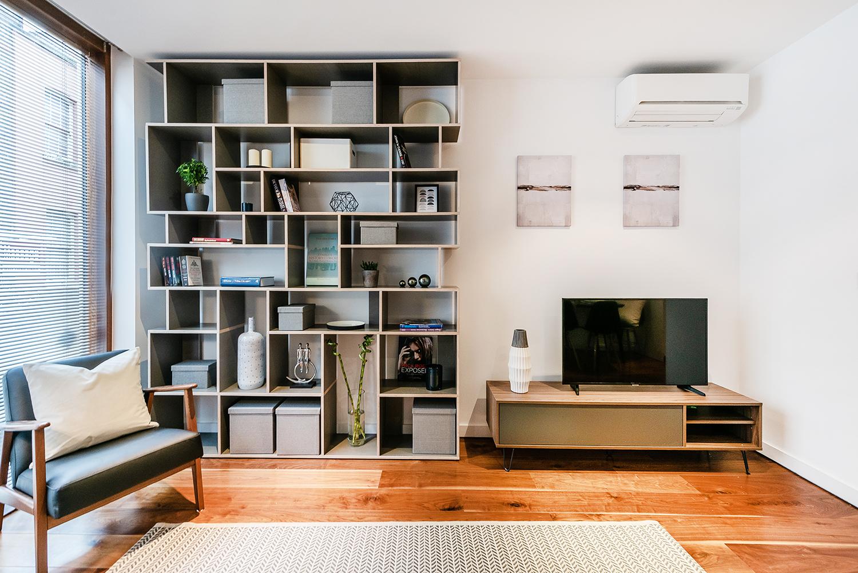 TV at Peter Street Apartment - Citybase Apartments