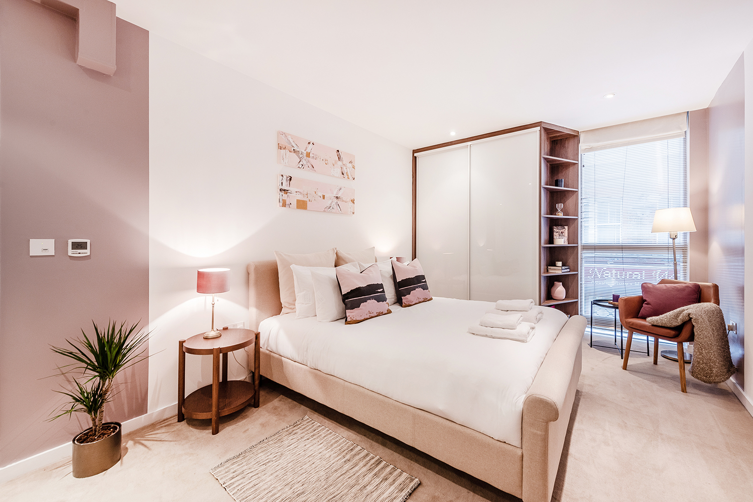 Modern bedroom at Peter Street Apartment - Citybase Apartments