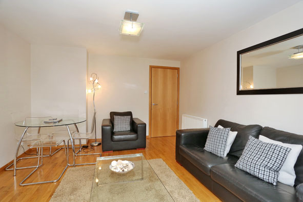 Spacious living area at 67 Chapel Street Apartments - Citybase Apartments