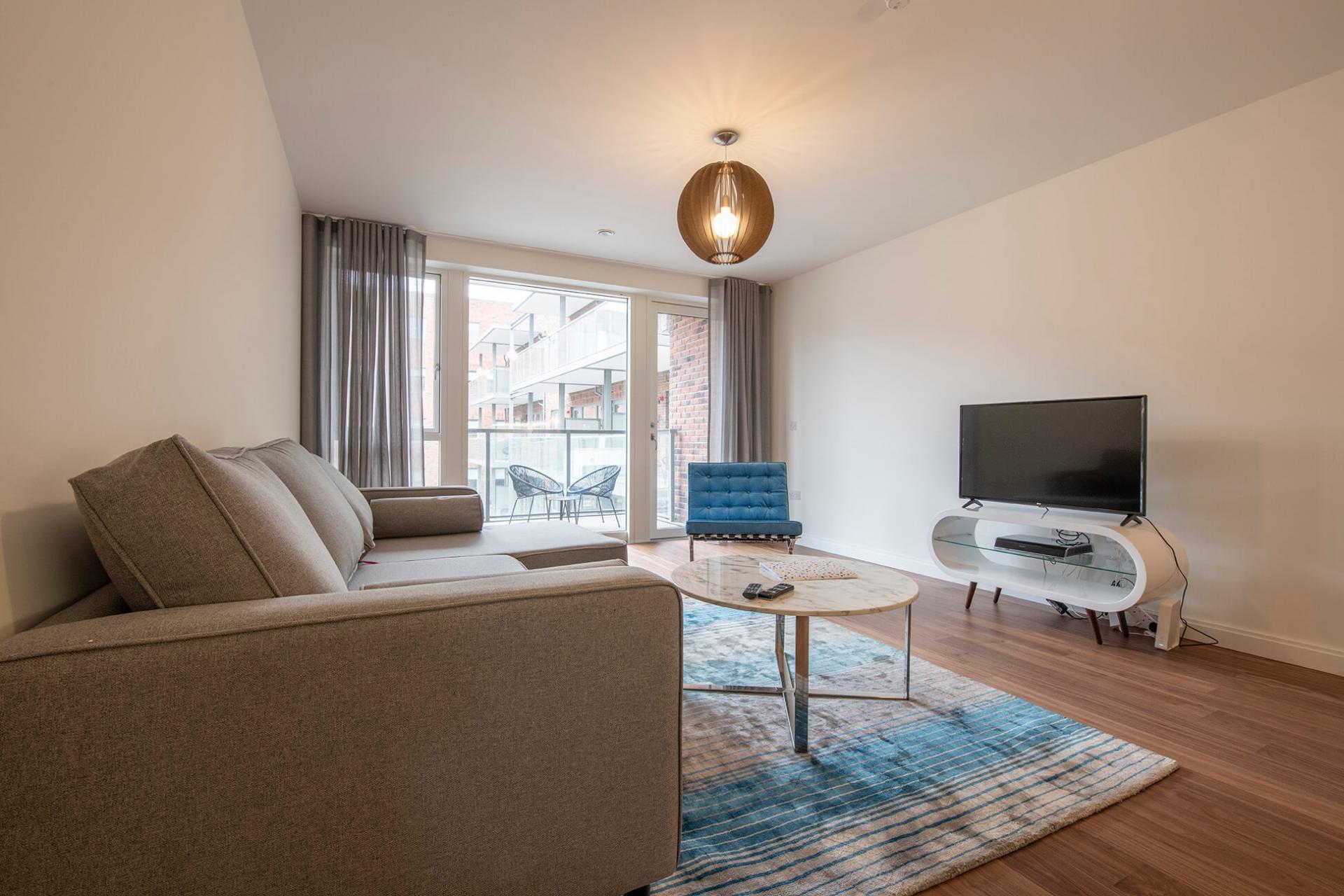 Spacious living area at Fernbank Apartments - Citybase Apartments