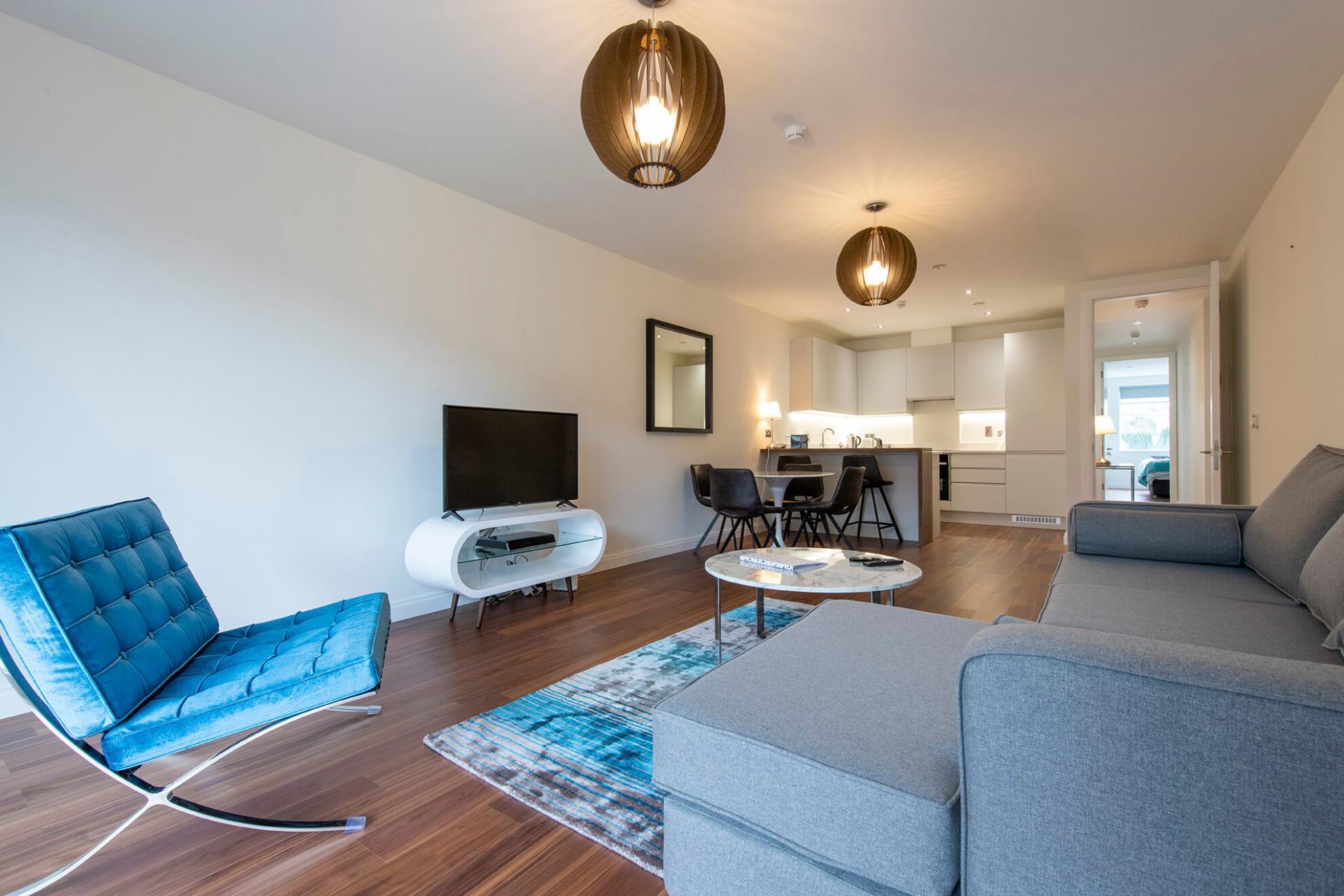 Stylish living area at Fernbank Apartments - Citybase Apartments