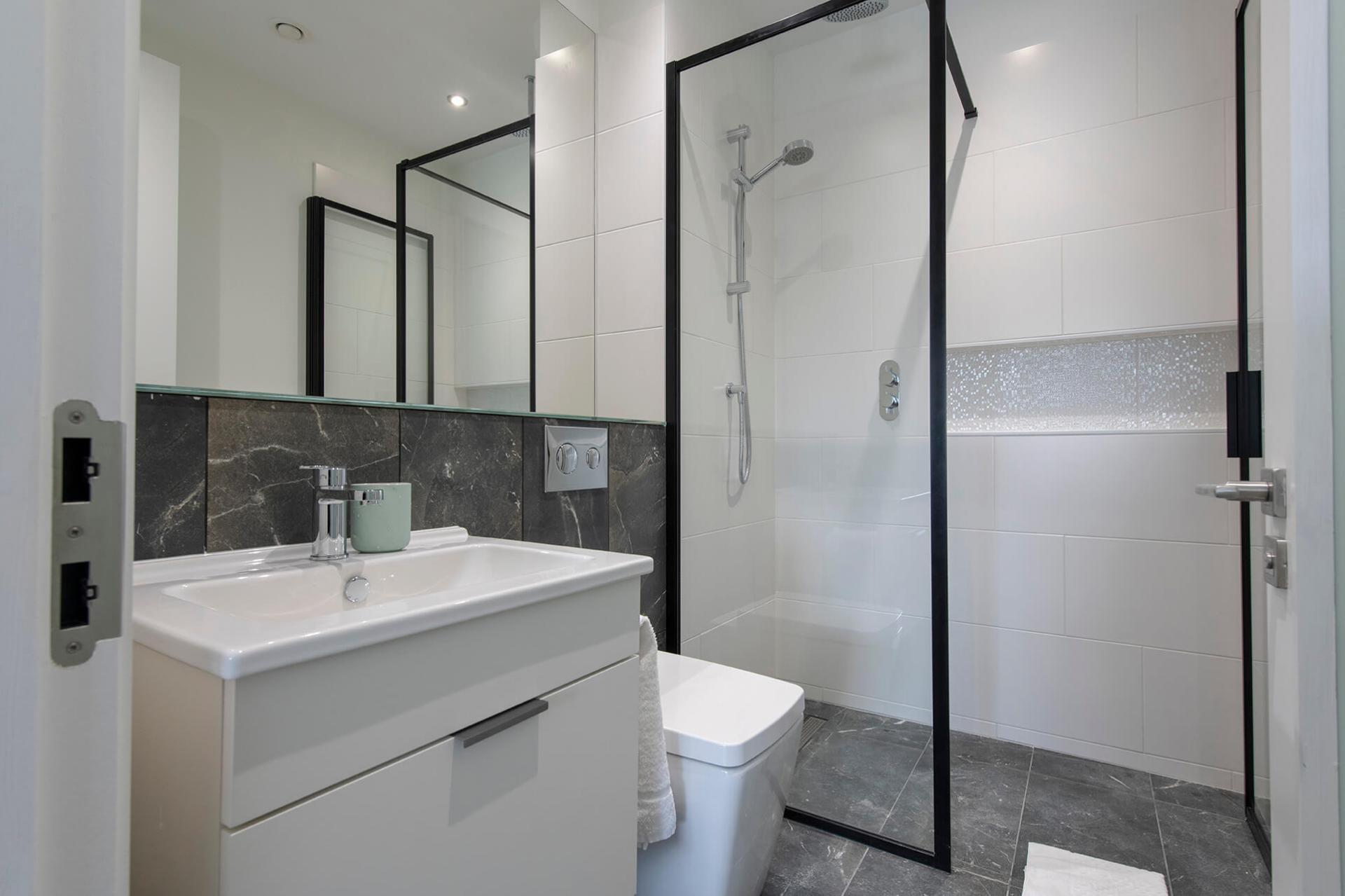 Shower at Fernbank Apartments - Citybase Apartments