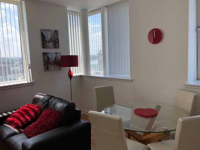 Dining table at Oswald Street Serviced Apartments - Citybase Apartments