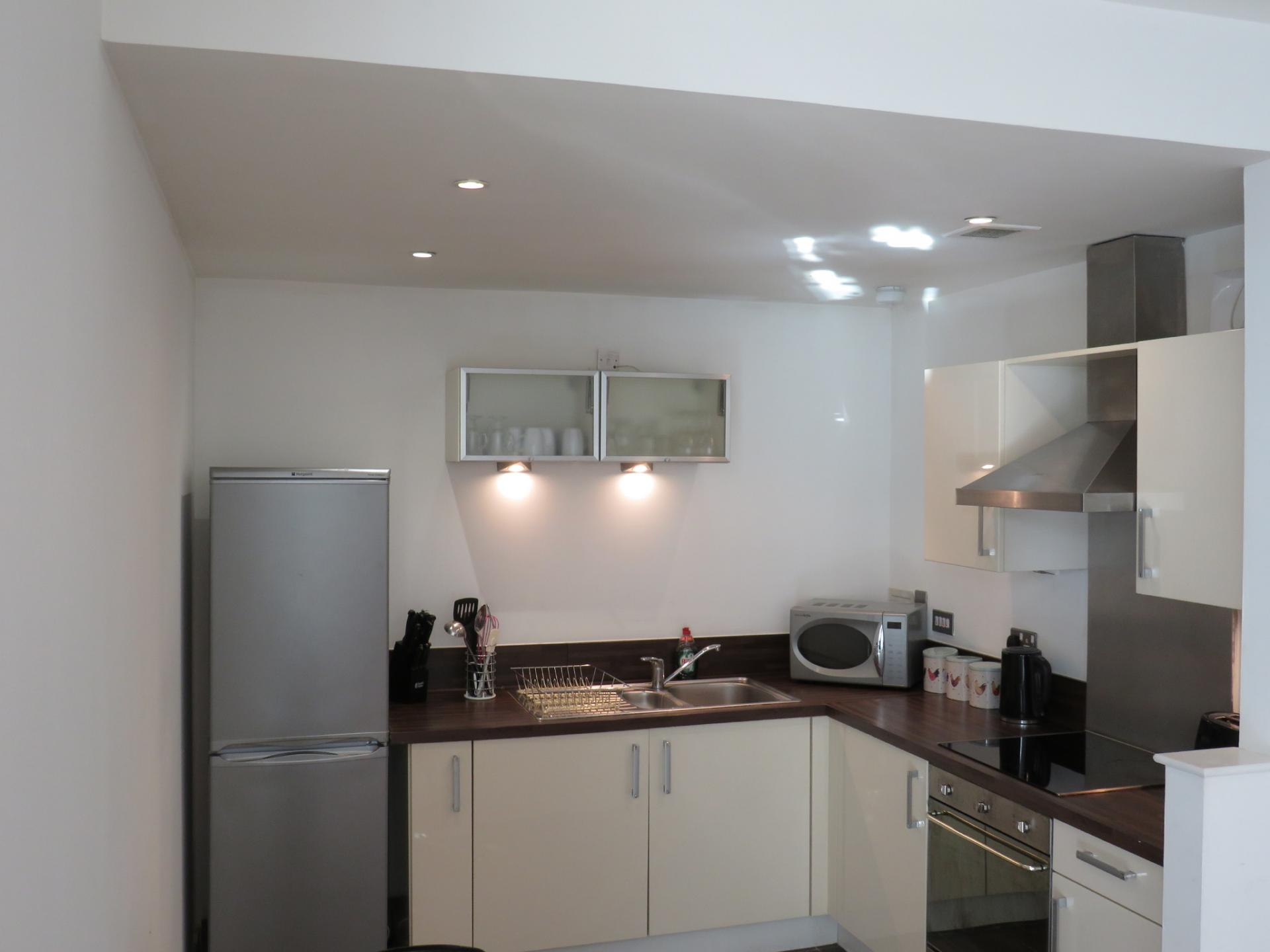 Kitchen at Oswald Street Serviced Apartments - Citybase Apartments