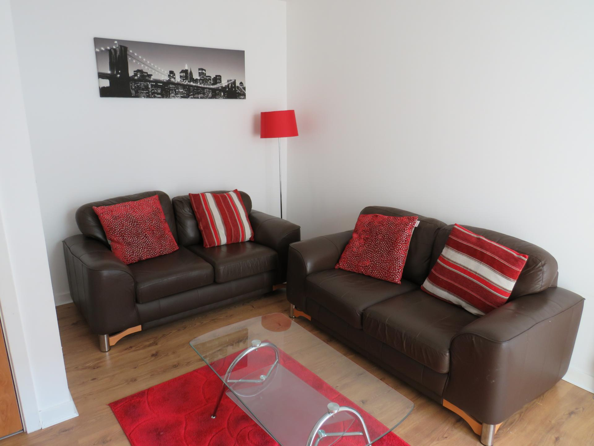 Sofa at Oswald Street Serviced Apartments - Citybase Apartments