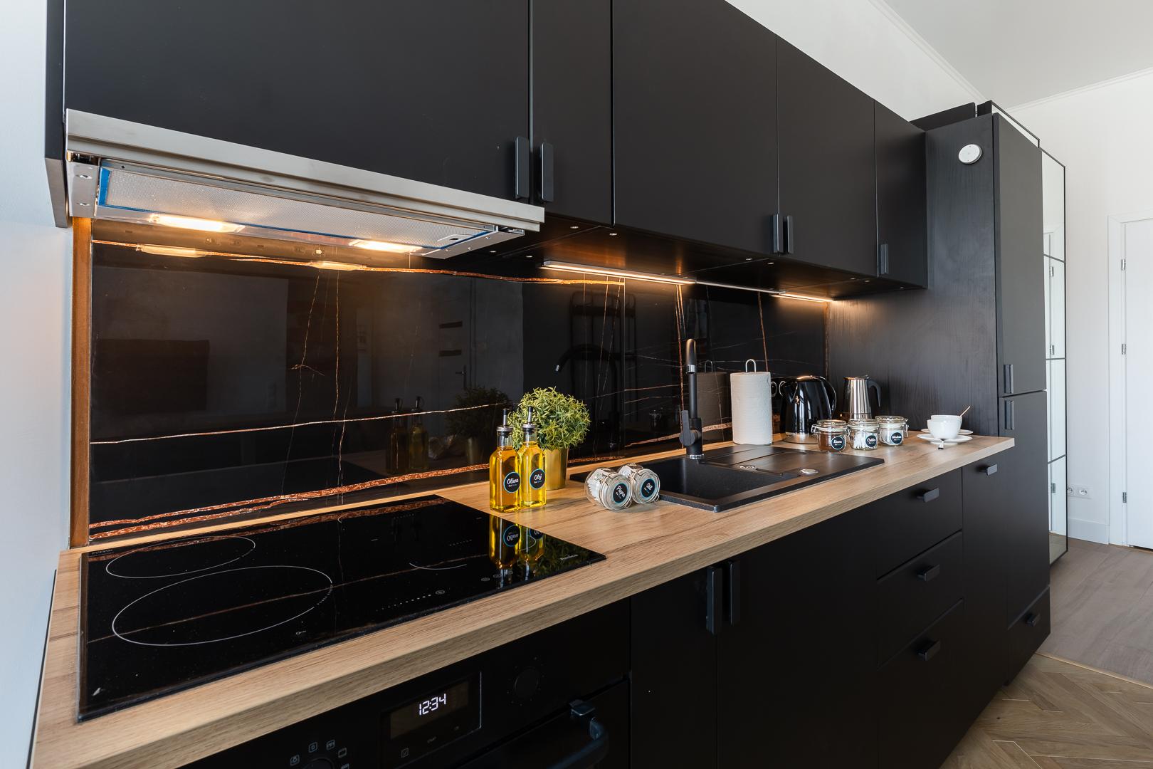 Kitchen at Wspolna Apartments - Citybase Apartments