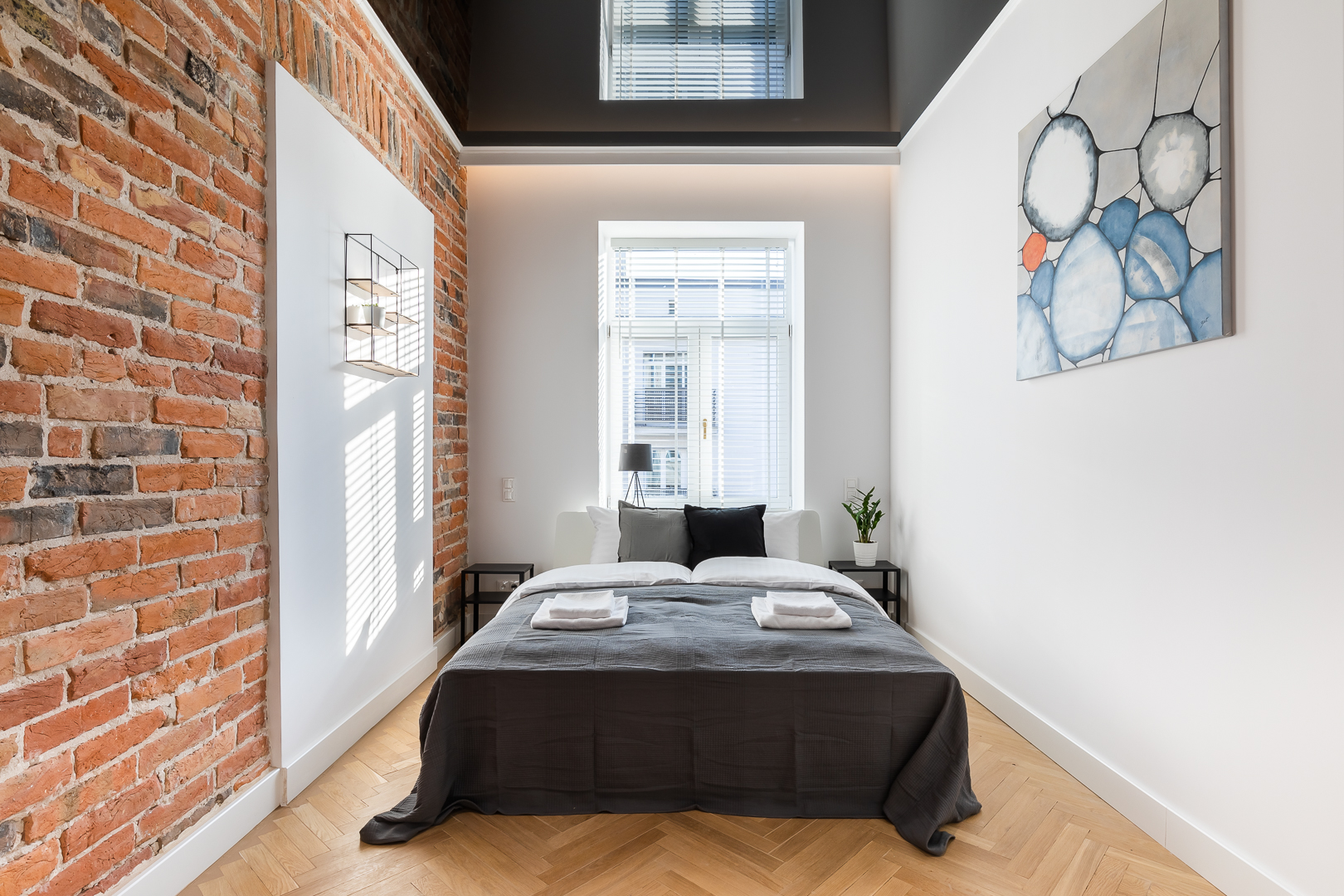 Bed at Wspolna Apartments - Citybase Apartments