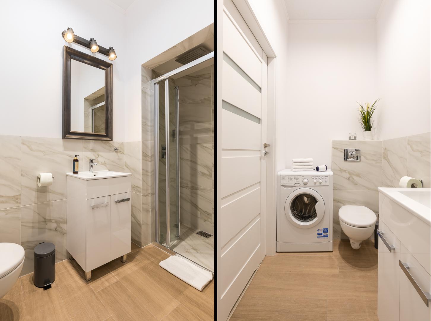 Bathroom at Wspolna Apartments - Citybase Apartments