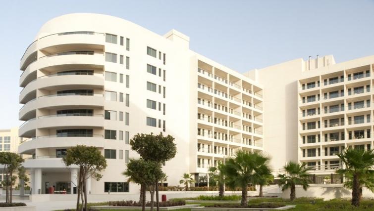 Grand exterior of Staybridge Suites Abu Dhabi - Yas Island - Citybase Apartments