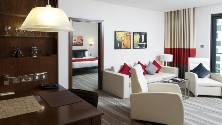 Stunning living area in Staybridge Suites Abu Dhabi - Yas Island - Citybase Apartments