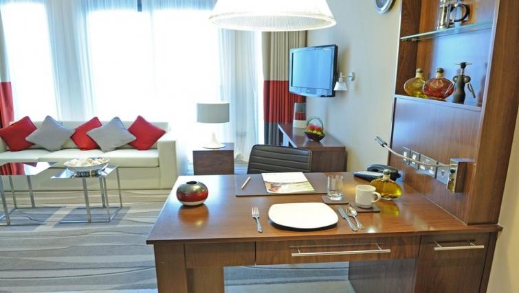 Spacious living area in Staybridge Suites Abu Dhabi - Yas Island - Citybase Apartments
