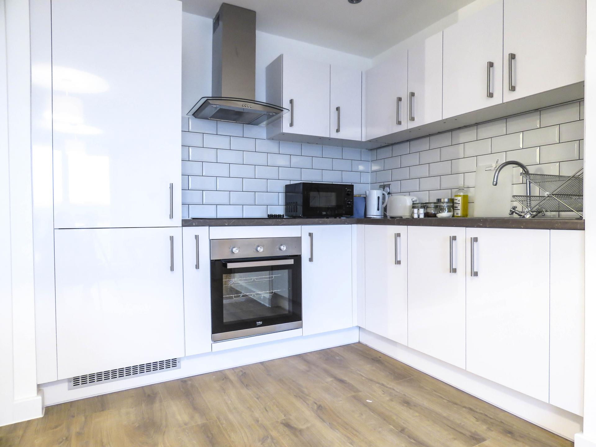 Kitchen at Canal Side Serviced Apartments - Citybase Apartments