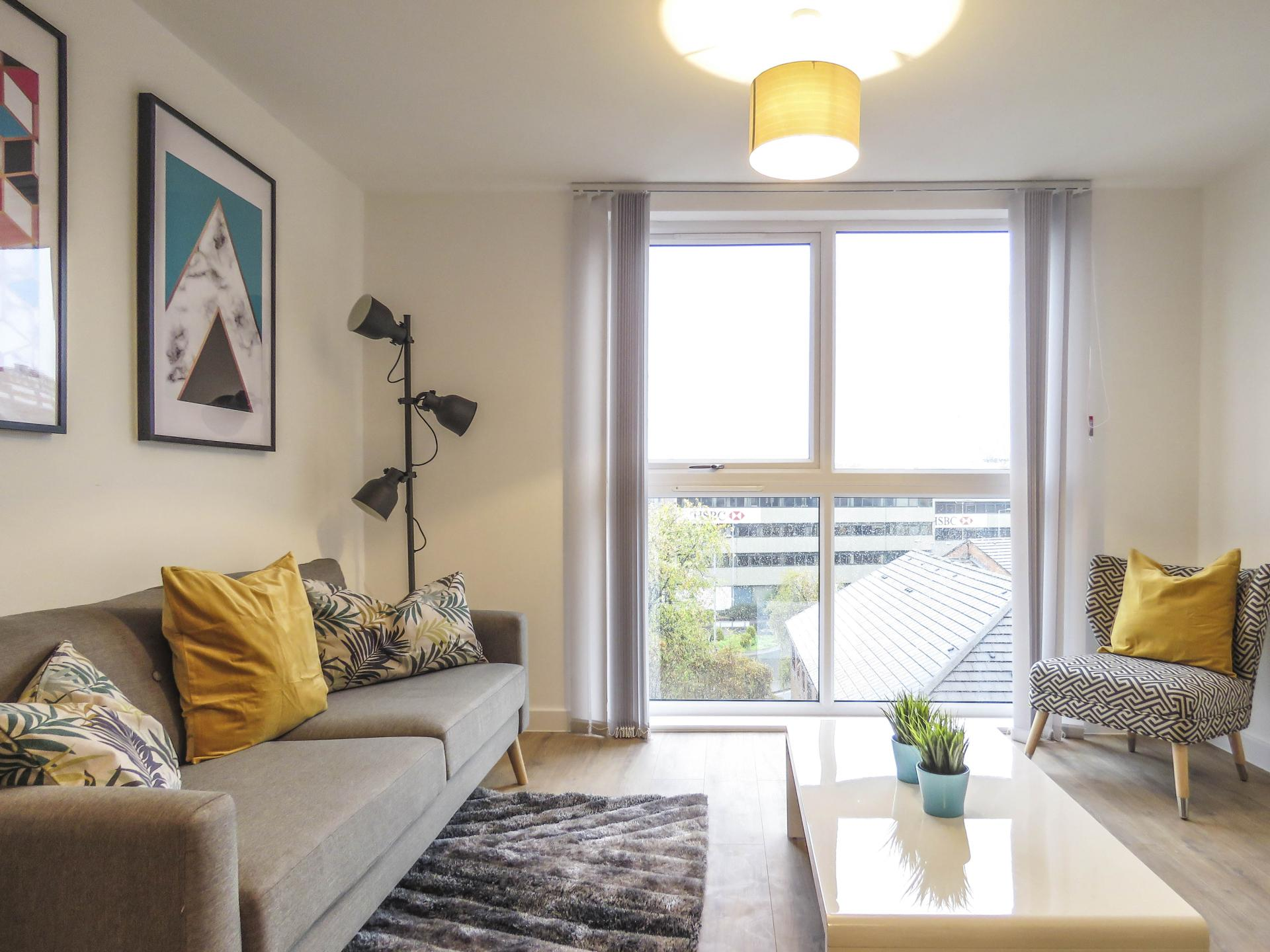 Lounge at Canal Side Serviced Apartments - Citybase Apartments