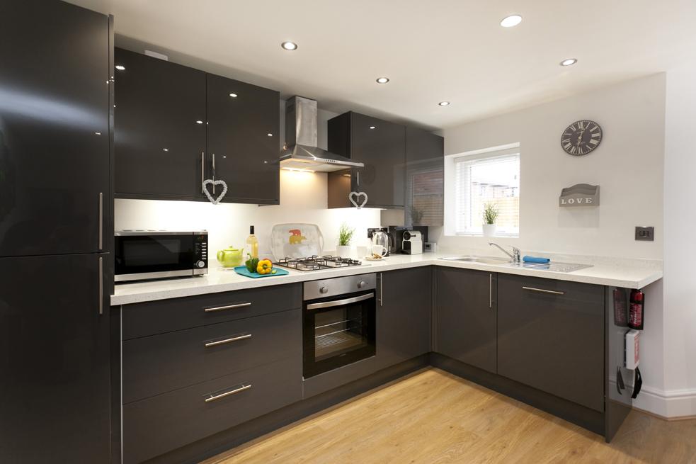 Modern kitchen at Bowling Green Apartments - Citybase Apartments