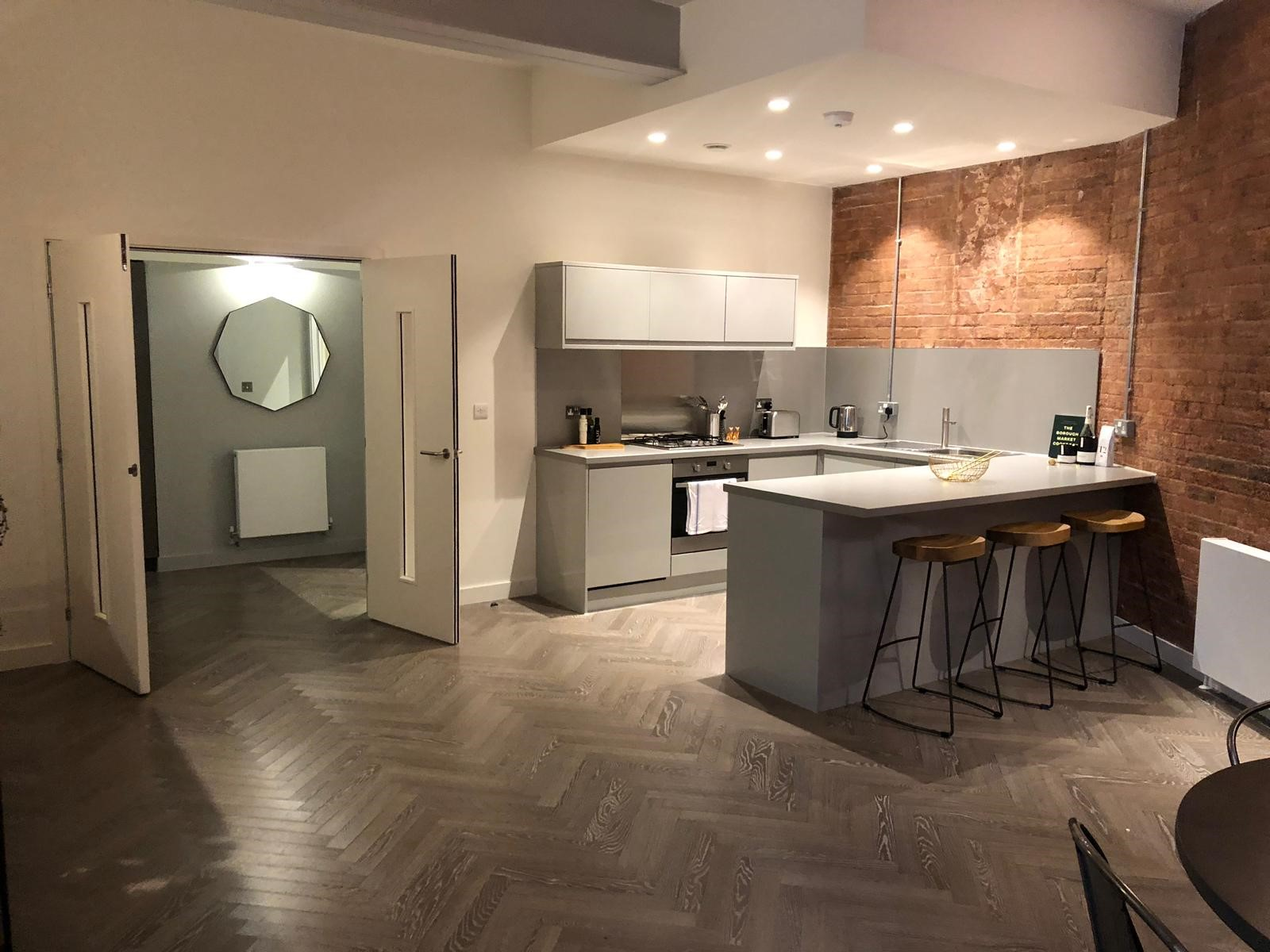 Kitchen at Shoreditch Apartments - Citybase Apartments