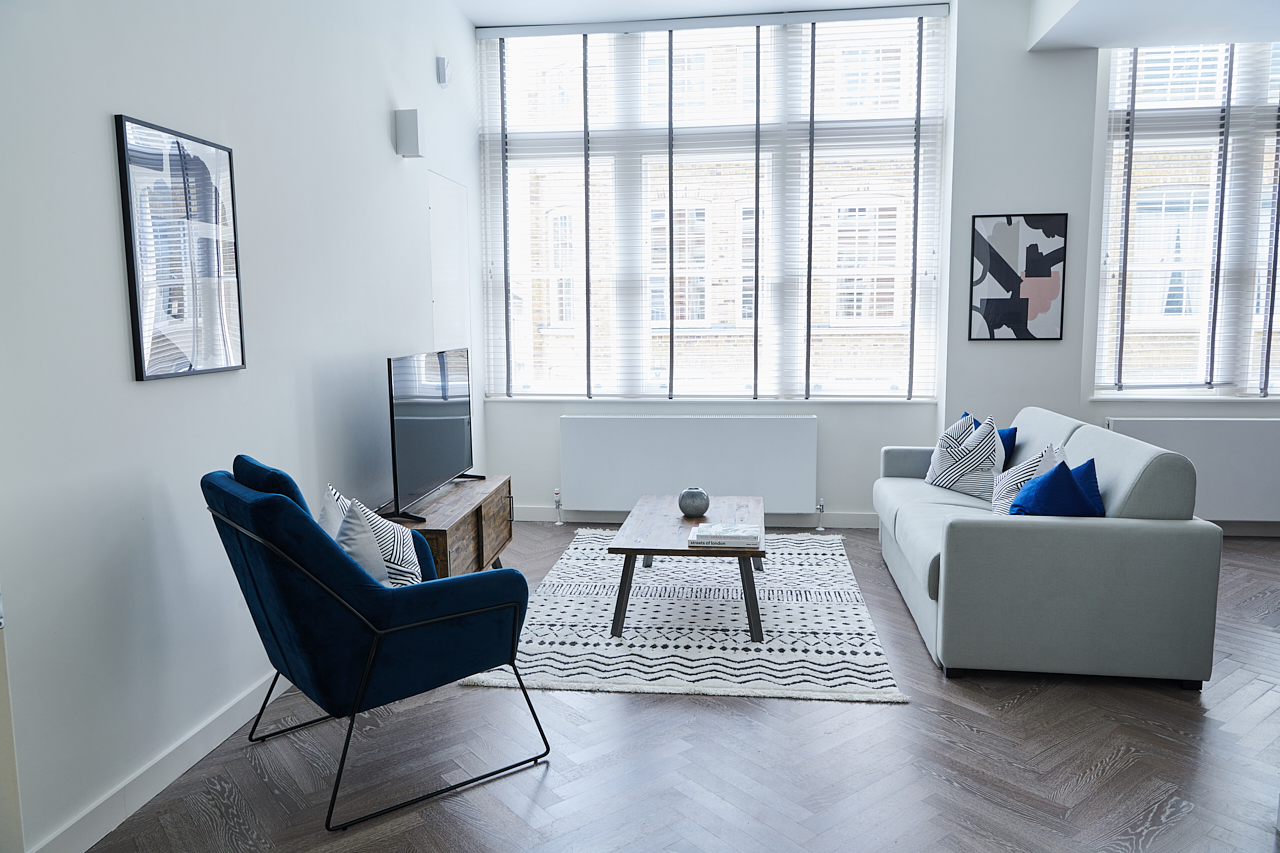 Bright living space at The Residence at Shoreditch Apartments - Citybase Apartments