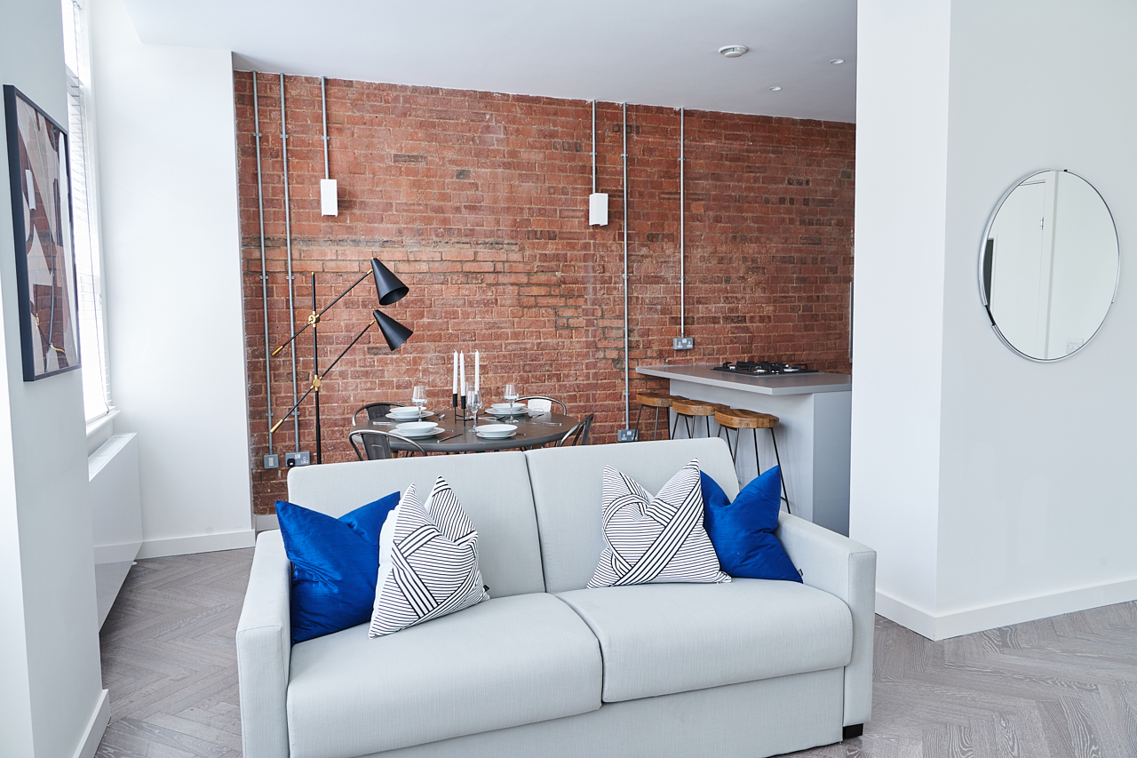 Exposed brick at The Residence at Shoreditch Apartments - Citybase Apartments