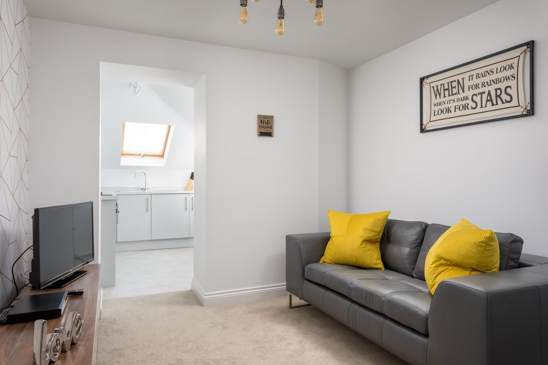 Living room at Axiom No. 8 Apartment - Citybase Apartments