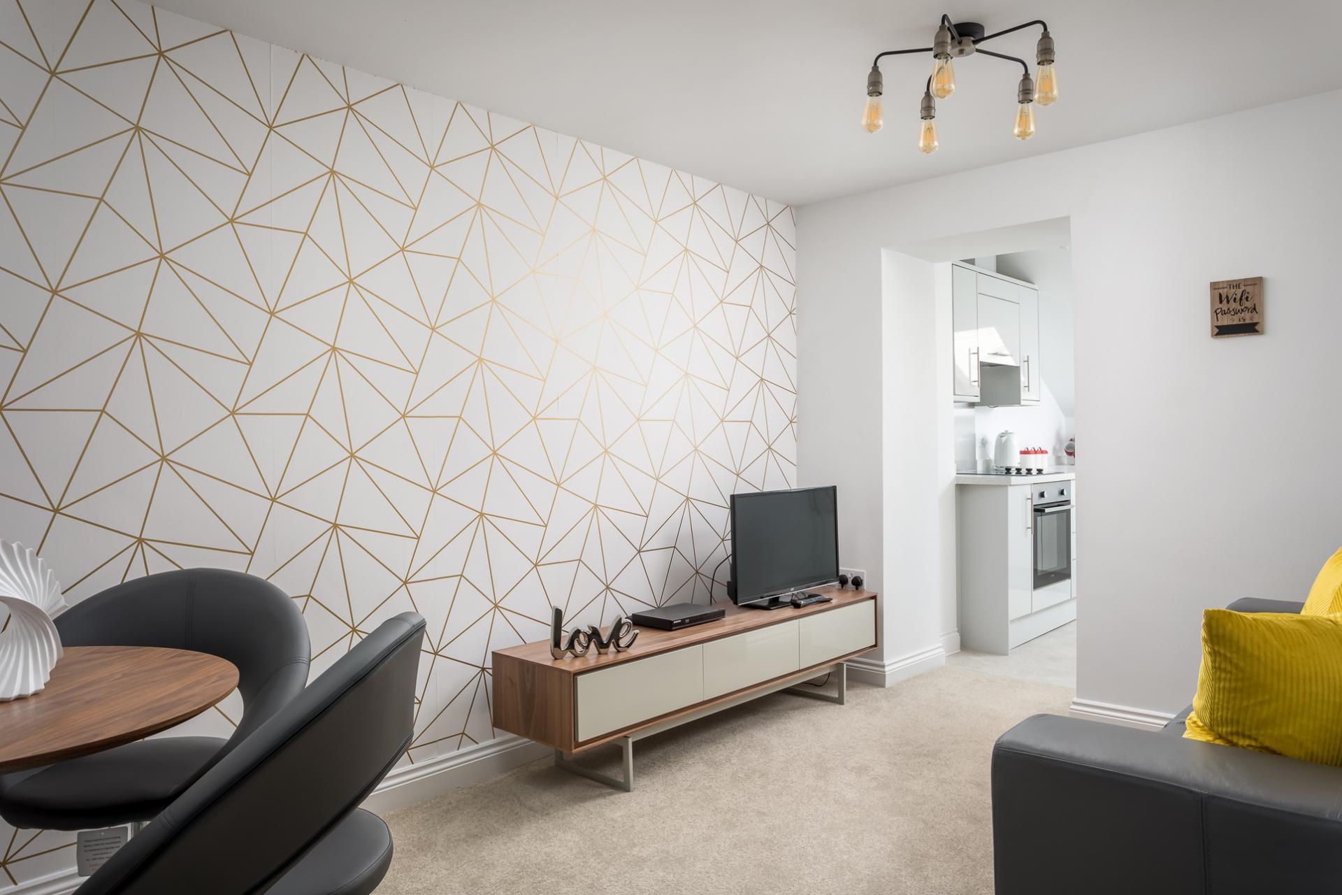 Lounge area at Axiom No. 8 Apartment - Citybase Apartments