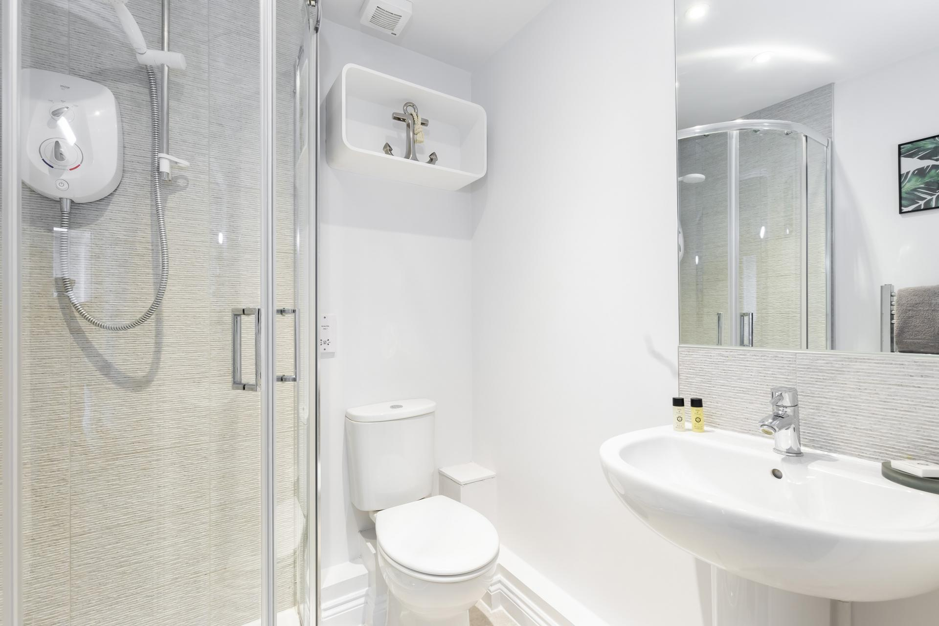 Bathroom at  Axiom No. 8 Apartment - Citybase Apartments