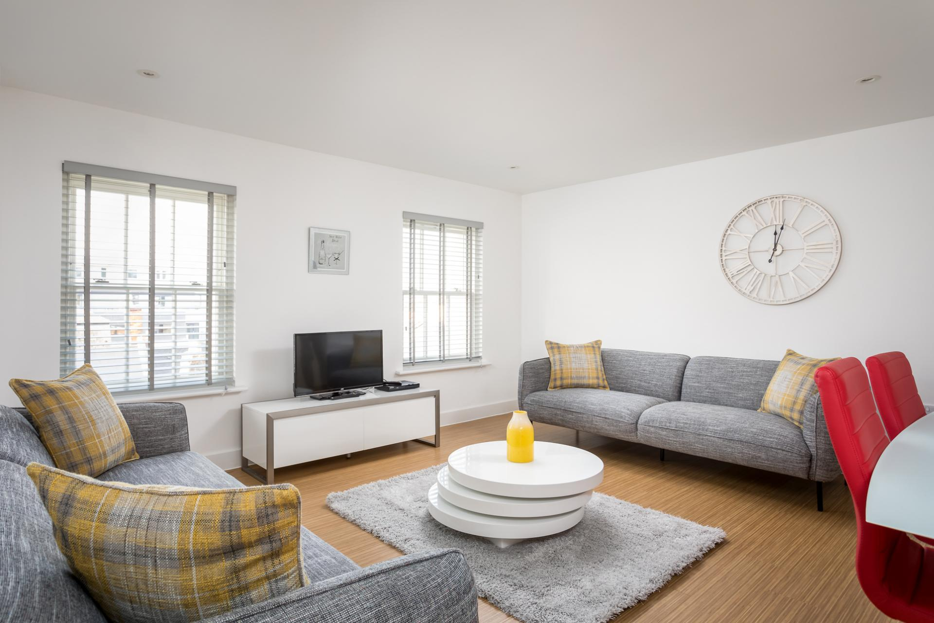 Lounge at Prince Regent Mews Apartment - Citybase Apartments