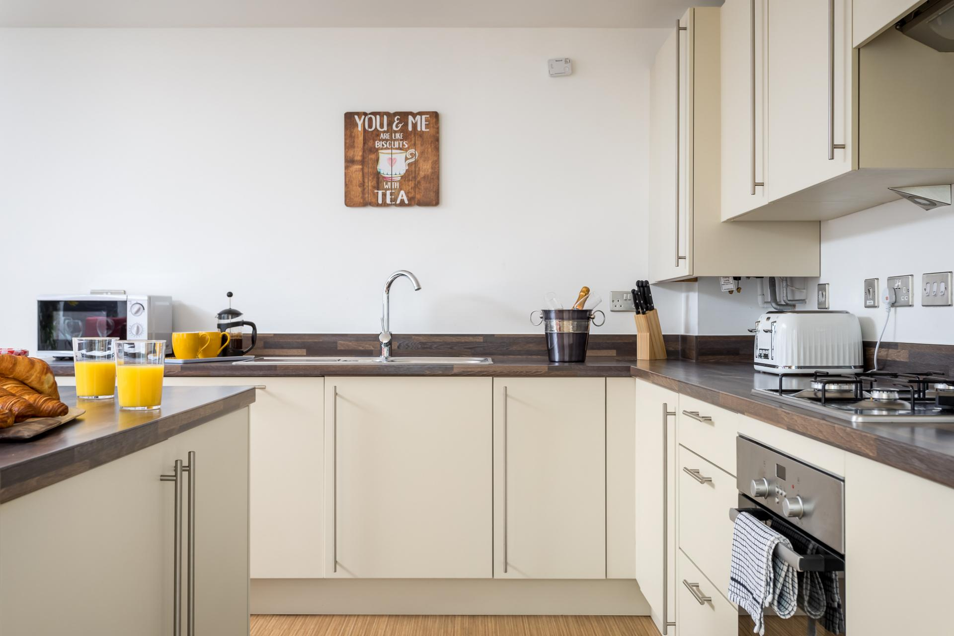 Kitchen at Prince Regent Mews Apartment - Citybase Apartments