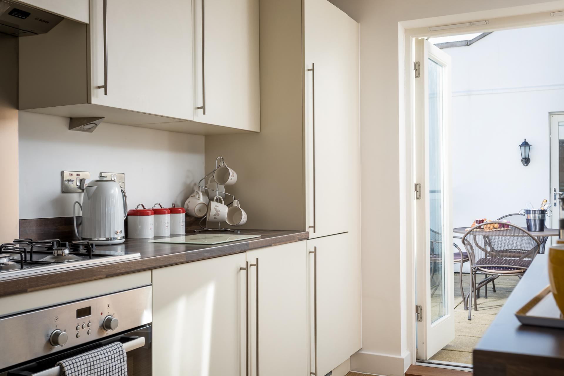 Modern kitchen at Prince Regent Mews Apartment - Citybase Apartments