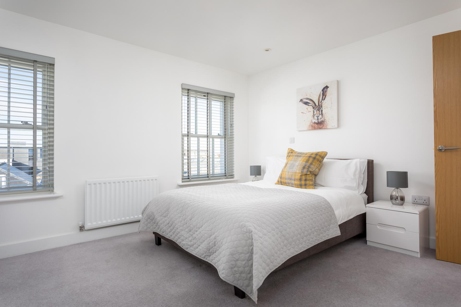 Master bedroom at Prince Regent Mews Apartment - Citybase Apartments