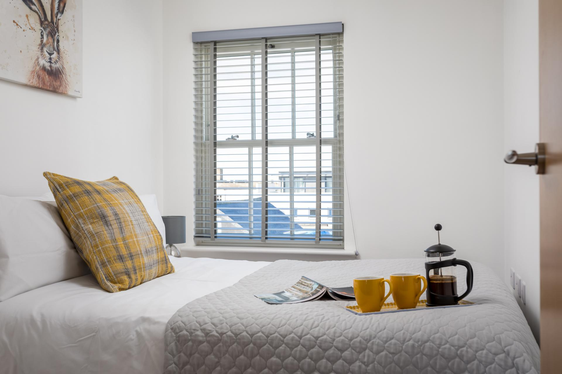 Double bedroom at Prince Regent Mews Apartment - Citybase Apartments