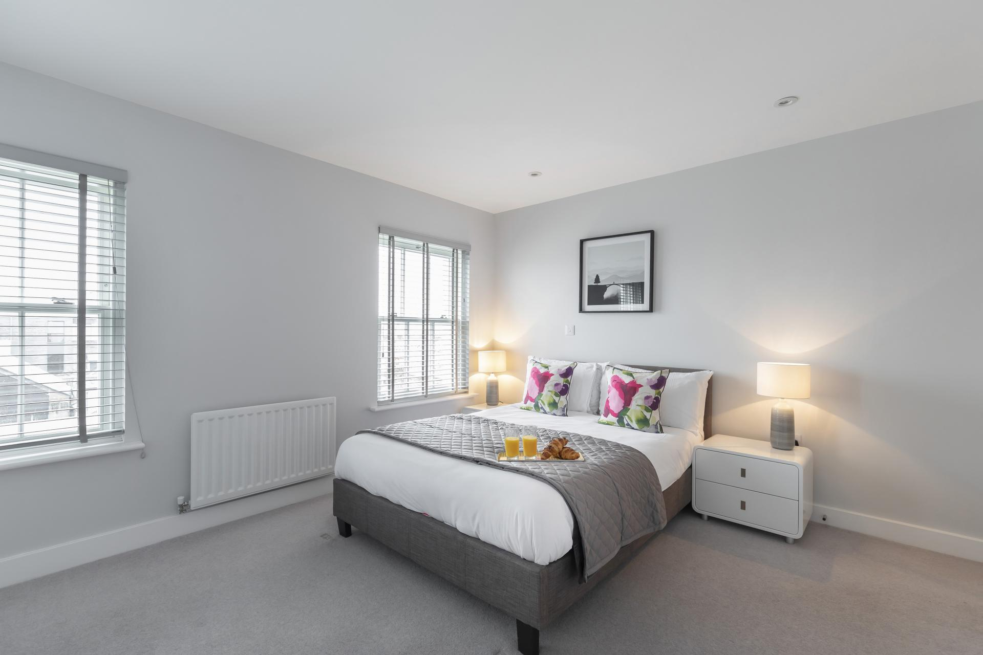 Bedroom at Prince Regent Mews Apartment - Citybase Apartments