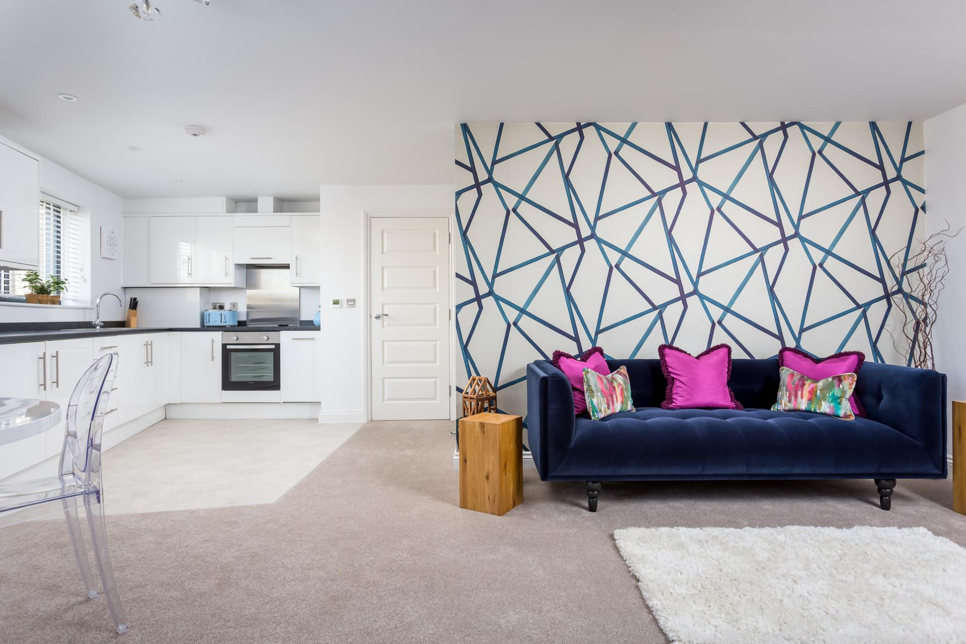 Open-plan living area at St George's Road Apartment - Citybase Apartments