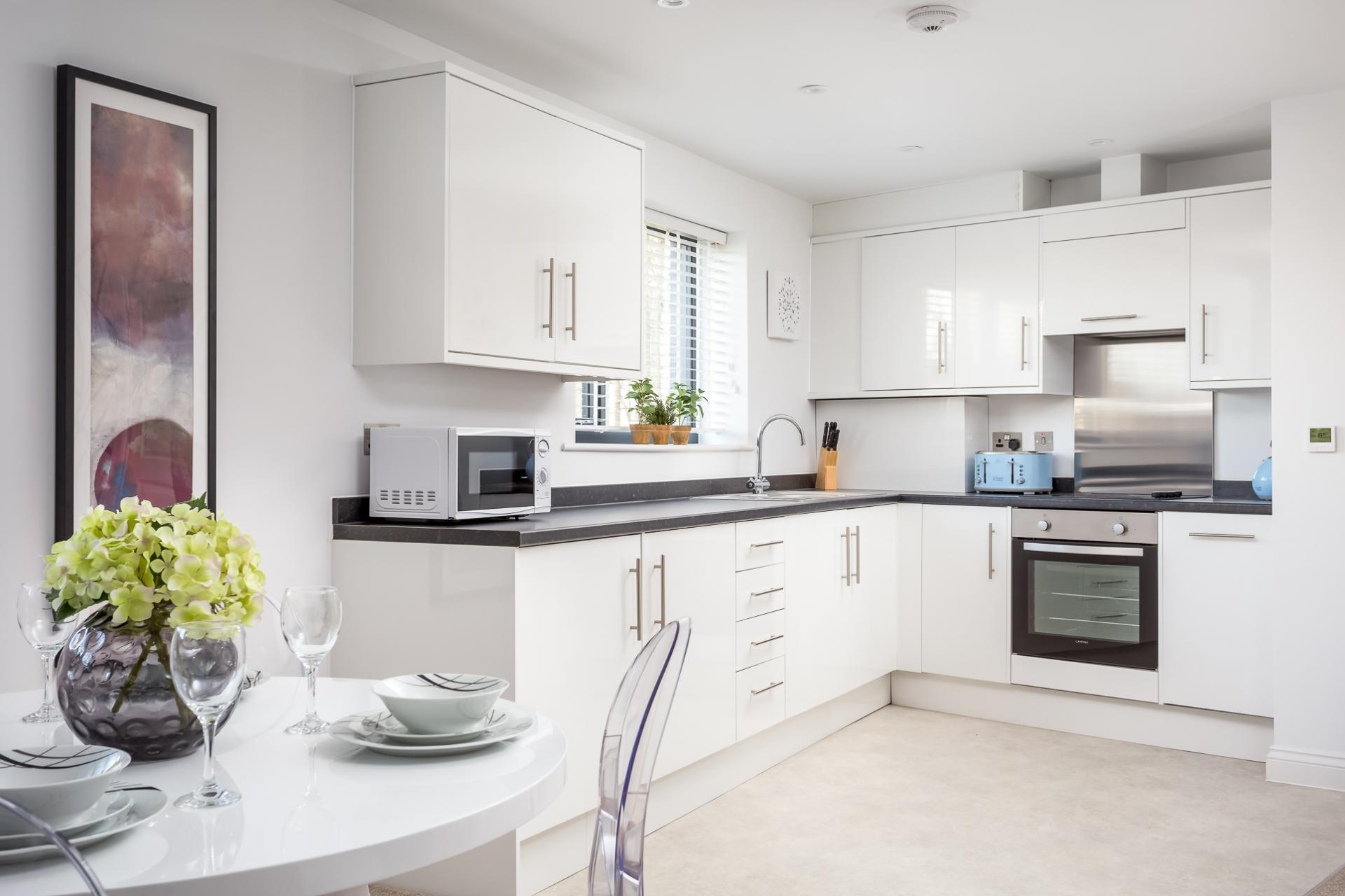 Dining area at St George's Road Apartment - Citybase Apartments