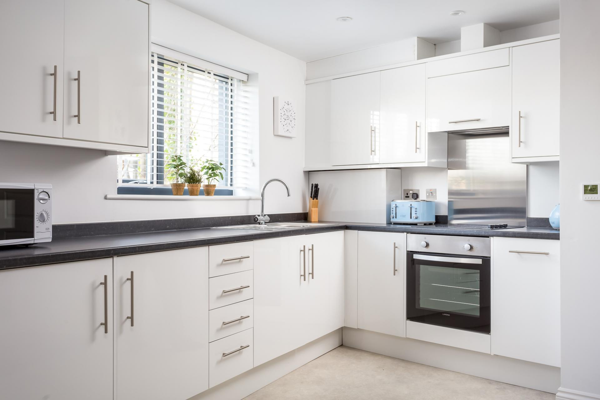 Kitchen at St George's Road Apartment - Citybase Apartments