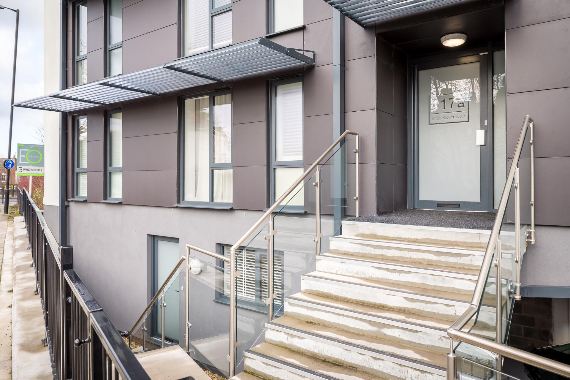 Front entrance at St George's Road Apartment - Citybase Apartments