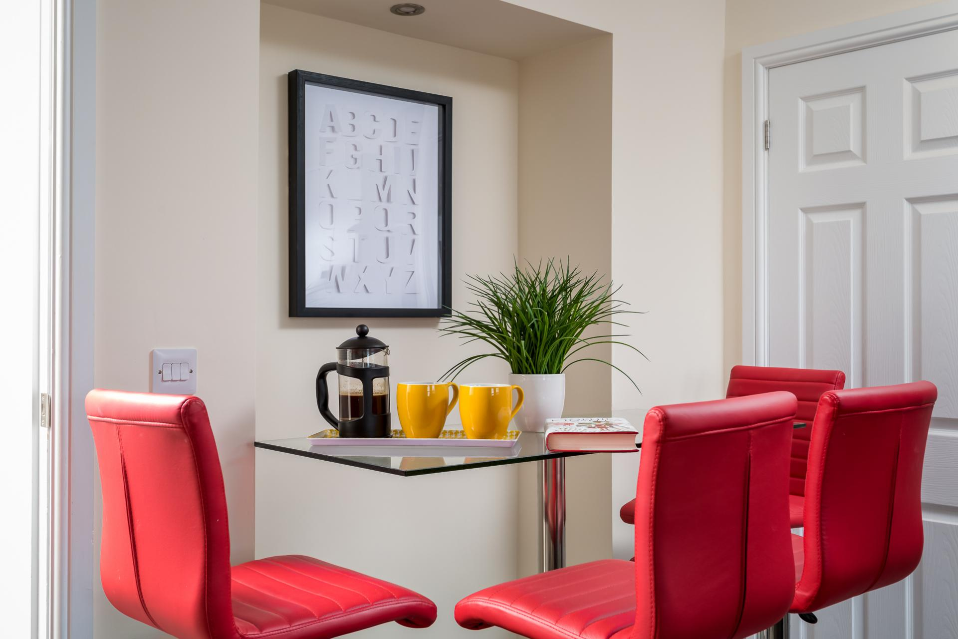 Table at High Street Serviced Apartment - Citybase Apartments