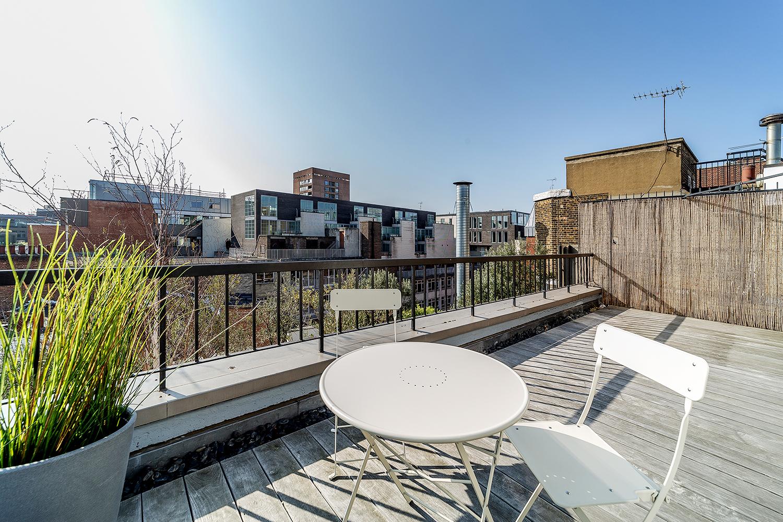 Balcony at Marlborough Street Apartment - Citybase Apartments