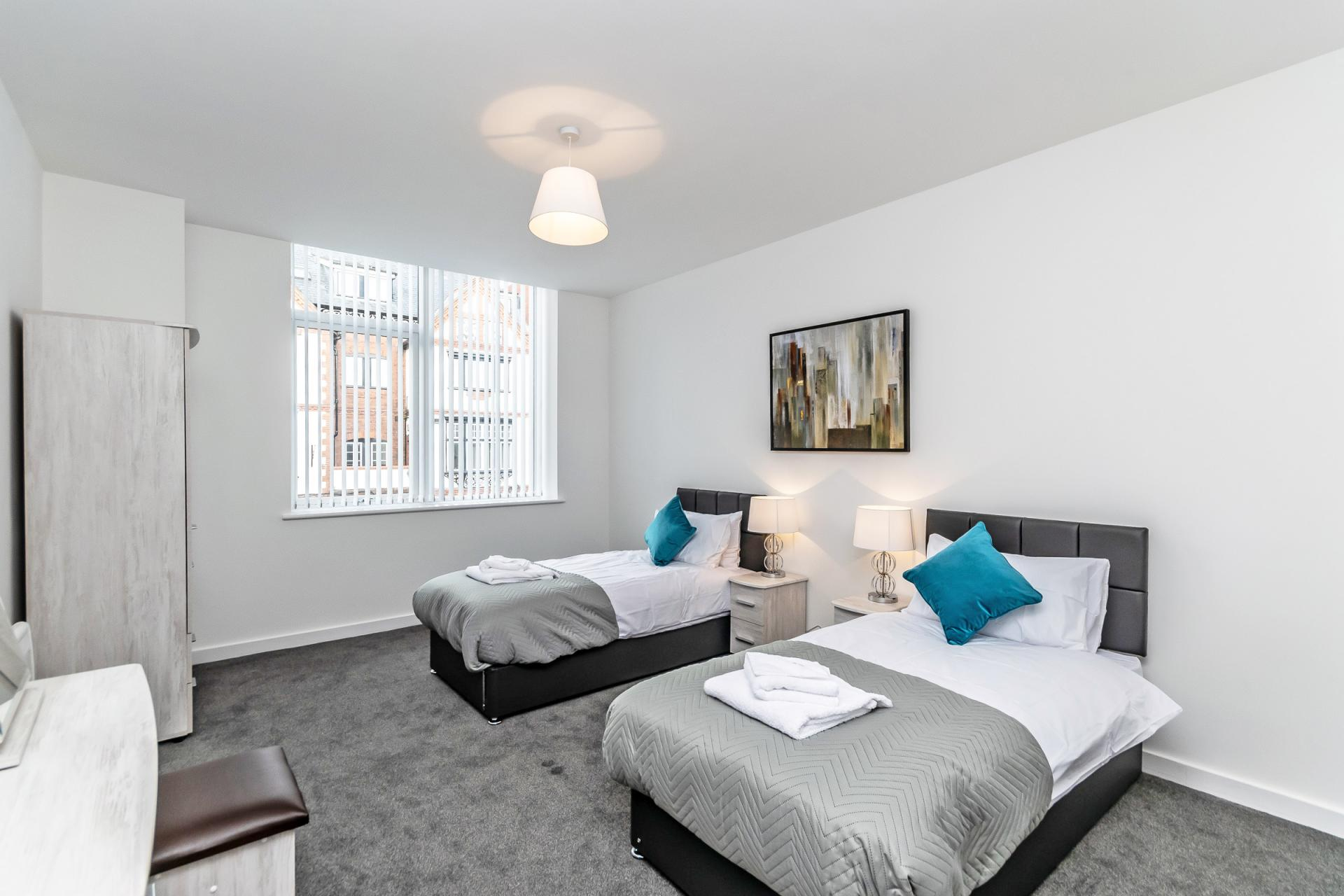 Twin rooms at City Suites Apartments - Citybase Apartments