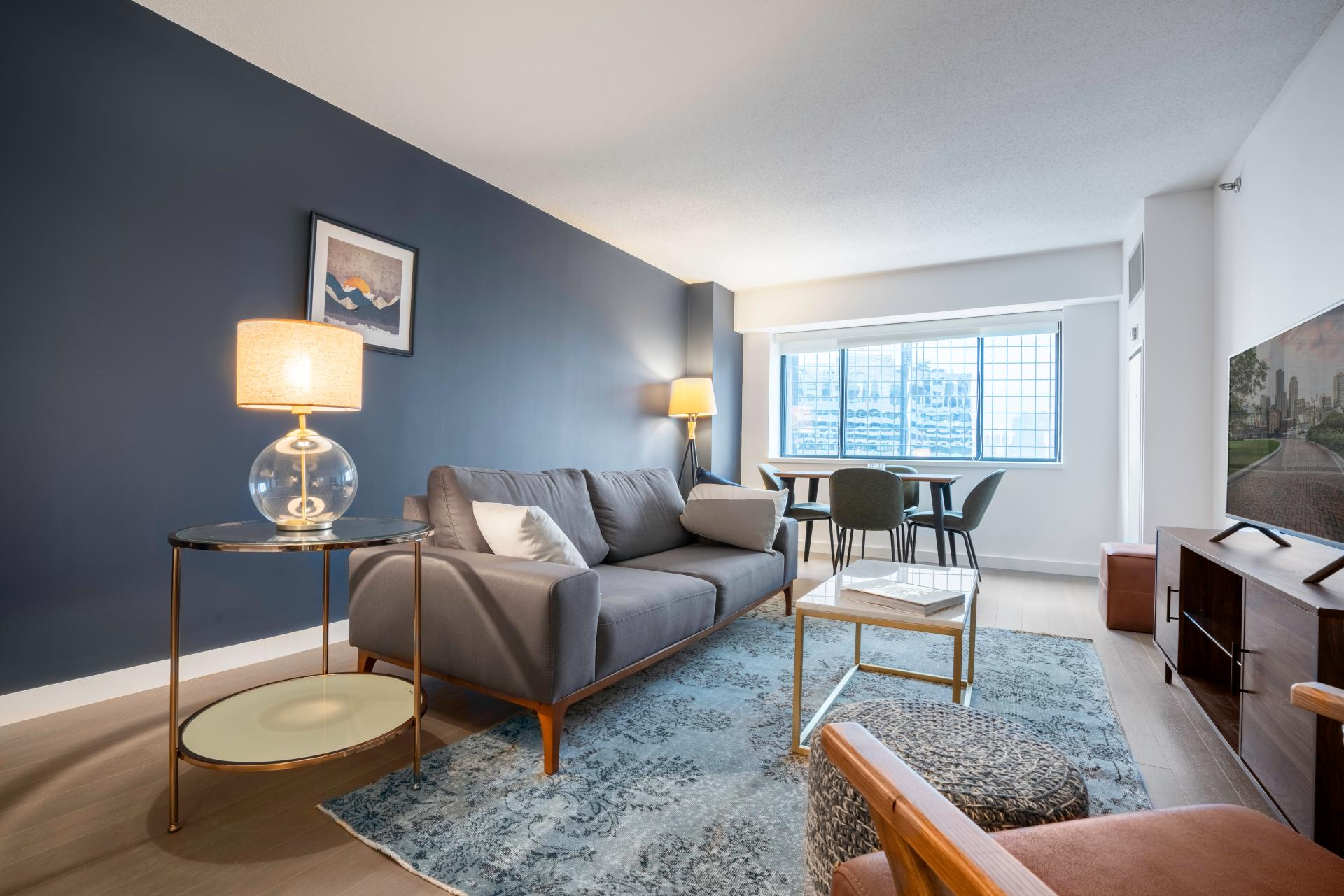 Living room at Devonshire Place Apartment - Citybase Apartments