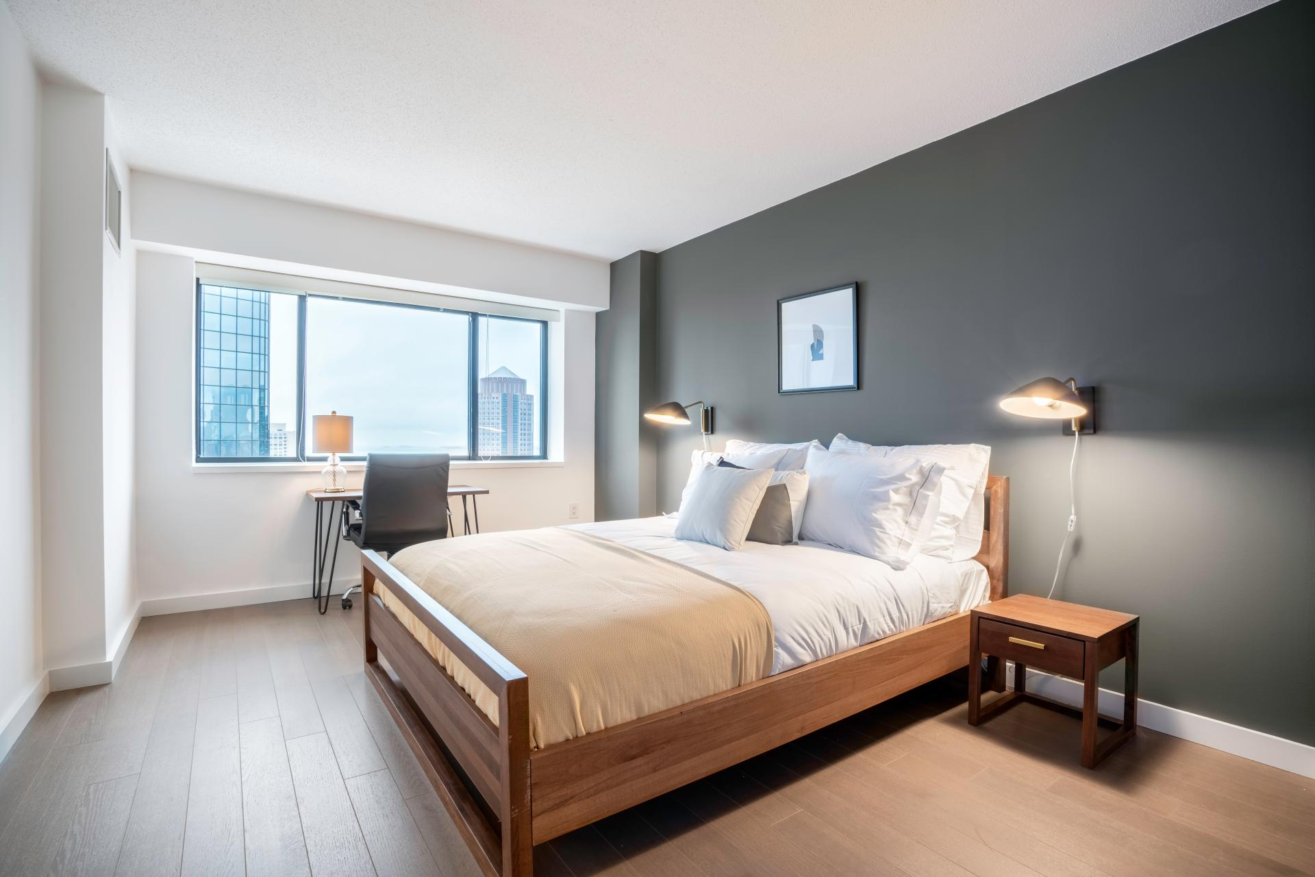 Bedroom at Devonshire Place Apartment - Citybase Apartments
